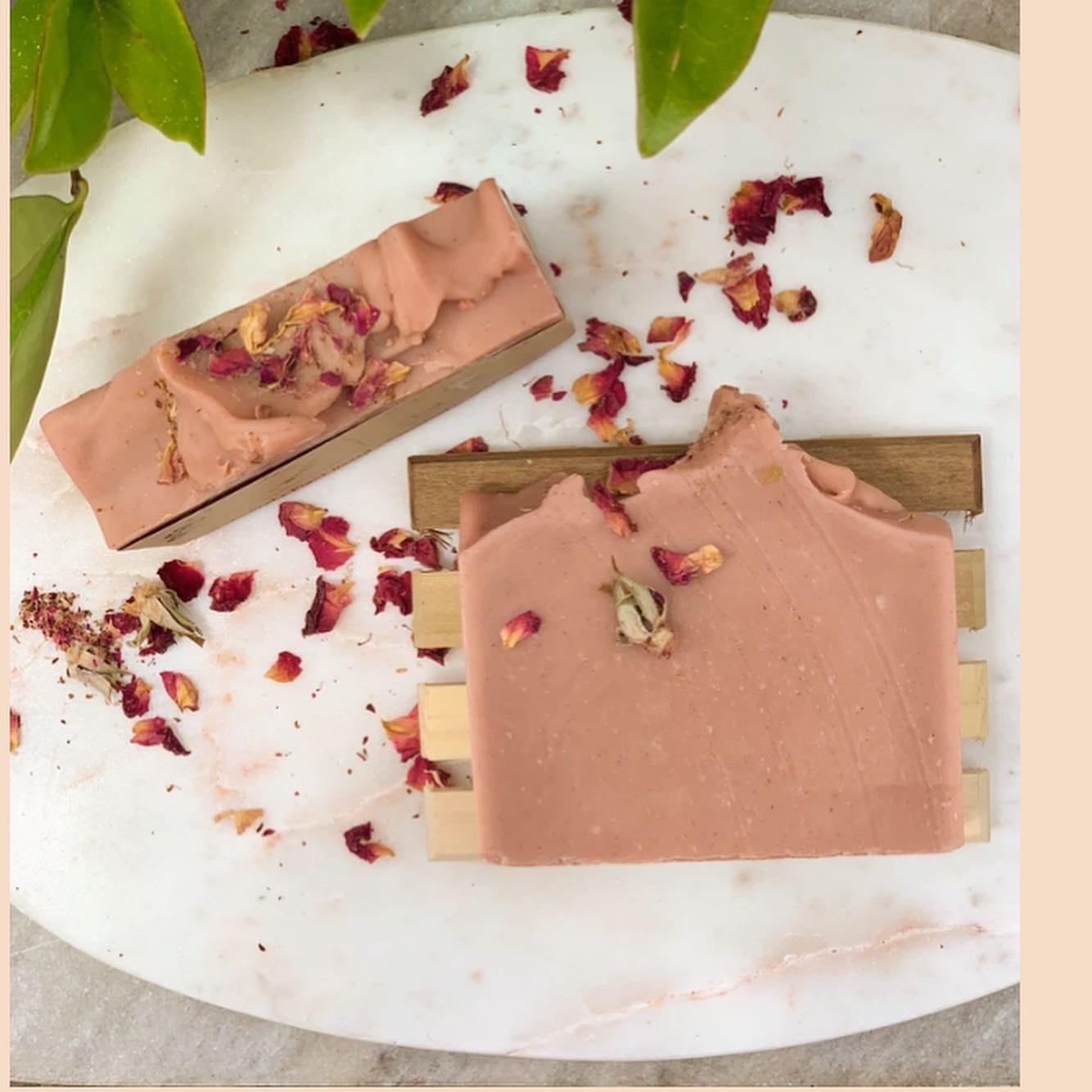 Aardbei-Rozen zeep